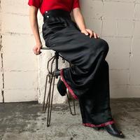 China Design Satin Tuck Pants BKRE