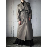 Snap Button Trench Coat BE GR