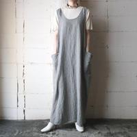 FLAX Linen Stripe Jumper Skirt GRLBL