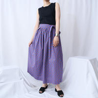 Small Pattern  Wrap Flared Skirt BL