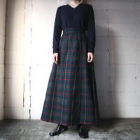 Checked Wrap Skirt GR