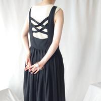 Cross Back Sleeveless Dress BK