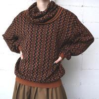 Off Turtle Chain pattern Knit BRBK