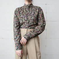 Paisley Stand Collar Blouse BKGR