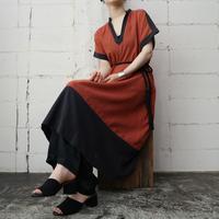 Bicolor French Sleeve Dress ORBK