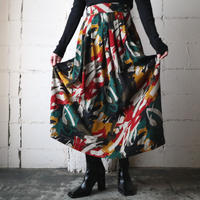 Paint Pattern Flared Skirt GRGNREYE