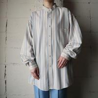Stripe Band Collar Shirt BLBE