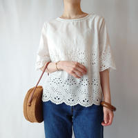 Cutwork Embroidery Blouse WH