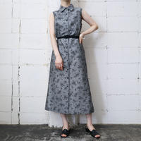 Flower Pattern Sleeveless Dress GR