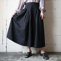 Tuck Flared Skirt BK