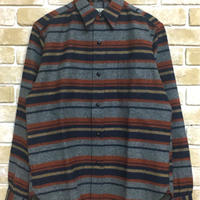 NorthNoName(ノースノーネーム) - BLANKET BORDER SHIRT(ORANGE)