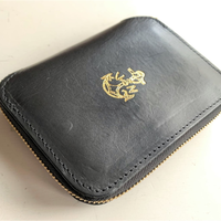 VASCO(ヴァスコ)-VSC-701ZN LEATHER NAVAL ROUND ZIP MIDDLE WALLET( 1月入荷予定)