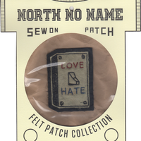 North No Name(ノースノーネーム)-FELT PATCH  LOVE HATE