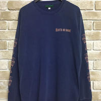 "NorthNoName(ノースノーネーム)-PATCH PATTERN L/S T ""EAGLE""(NAVY)"