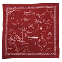 NorthNoName(ノースノーネーム)-AIR RUUTE BANDANA(RED)
