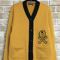 2019 AW 先行予約 NorthNoName(ノースノーネーム)-TWO-TONE SWEAT CARDIGAN(MUSTARD)