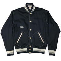 NorthNoName(ノースノーネーム)-COTTON VARSITY JACKET(BLACK)