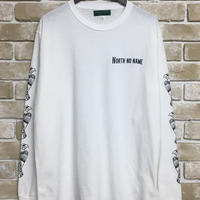 "NorthNoName(ノースノーネーム)-PATCH PATTERN L/S T ""EAGLE""(WHITE)"