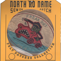 North No Name(ノースノーネーム)-FELT PATCH (FREAK OUT)