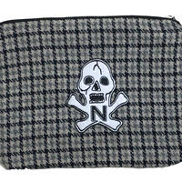 "NorthNoName(ノースノーネーム)- NNN PATCH PATERN ""SKULL"" POACH-LARGE(CHECK)"
