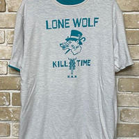 NorthNoName(ノースノーネーム)-LONE WOLF REVERSIBLE T(TURQUOISE/WHITE)