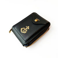 VASCO(ヴァスコ)-VSC-700ZN LEATHER NAVAL ROUND ZIP SHORT WALLET( 1月入荷予定)