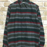 NorthNoName(ノースノーネーム) - BLANKET BORDER SHIRT(GREEN)