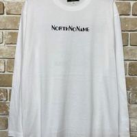 NorthNoName(ノースノーネーム)-ADVERTISING L/S T(WHITE)