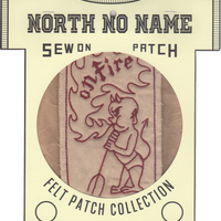 North No Name(ノースノーネーム)-FELT PATCH (on Fire)