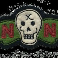 North No Name(ノースノーネーム)-FELT PATCH(SKULL)
