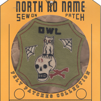 North No Name(ノースノーネーム)-FELT PATCH OWL