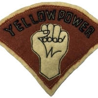 North No Name(ノースノーネーム)-FELT PATCH(YELLOW POWER)