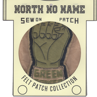 North No Name(ノースノーネーム)-FELT PATCH (GREEN POWER)