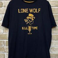 NorthNoName(ノースノーネーム)-LONE WOLF REVERSIBLE T(MUSTARD/BLACK)