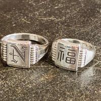 2020年AUTUMN  先行予約 NorthNoName(ノースノーネーム)-SIGNET RING-N-(SILVER)