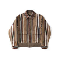 OLD JOE(オールドジョー) -BUTTONED FRONT A-1 JACKET(BISQUE STRIPE)
