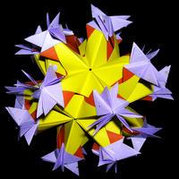 折り紙で作るくす玉の折り図「長いゆびきり & 針千本」