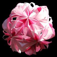 折り紙で作るくす玉の折り図「月暈」