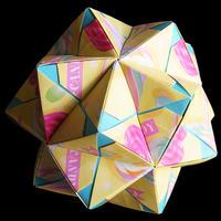 折り紙で作るくす玉の折り図「インウィット バリエーション Vol.2」