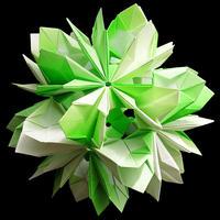 折り紙で作るくす玉の折り図「エオス & セレネ」