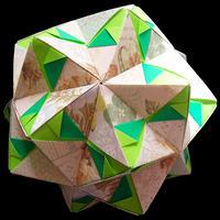 折り紙で作るくす玉の折り図「インウィット バリエーション Vol.1」