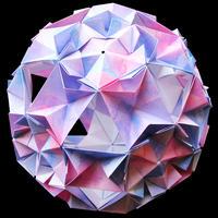 折り紙で作るくす玉の折り図「シード & ツリーオブライフ II」