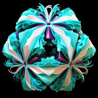 折り紙で作るくす玉の折り図「ふたつのアラベスク アレンジ集」