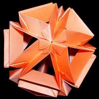 折り紙で作るくす玉の折り図「パッサカリア」