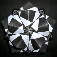 折り紙で作るくす玉の折り図「バラエティユニット ピエロ」