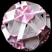 折り紙で作るくす玉の折り図「フラワー、シード、ツリーオブライフ」