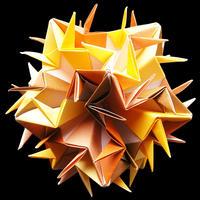 折り紙で作るくす玉の折り図「インペトゥス」
