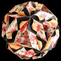 折り紙で作るくす玉の折り図「パラレッロ・ファンタジア」