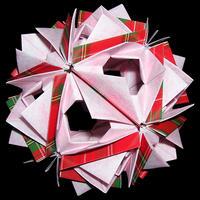 折り紙で作るくす玉の折り図「シャム デコレーションパーツ コレクション」