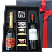 《おすすめワインセット》【ワインとグルメのギフト】フランスのスパークリンワインと赤ワイン テリーヌ2種と「ソーテルヌ・チョコレート」の豪華セット(G26-377512)